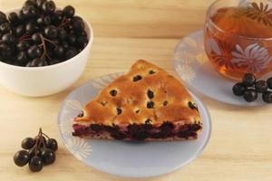 Творожный пирог с черноплодной рябиной: домашний рецепт
